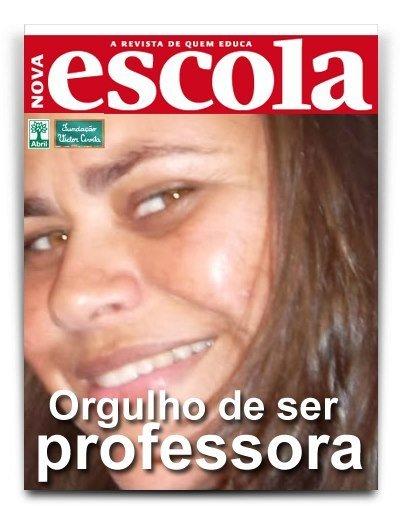 Olha a professora Ana Paula na capa de Nova Escola