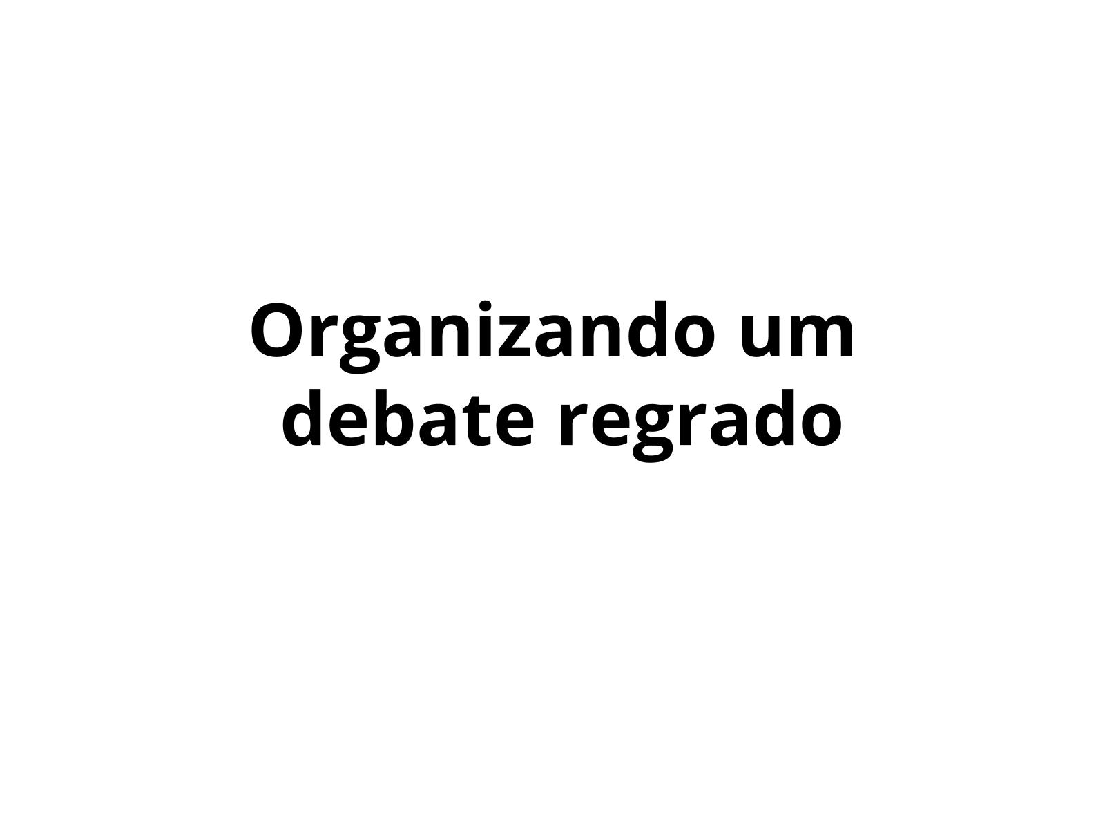O debate em sala de aula: discutir X opinar X argumentar
