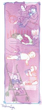 O diálogo eficiente entre pais e escola é um dos segredos para atender bem as crianças de até 5 anos. Ilustração Melissa Lagoa