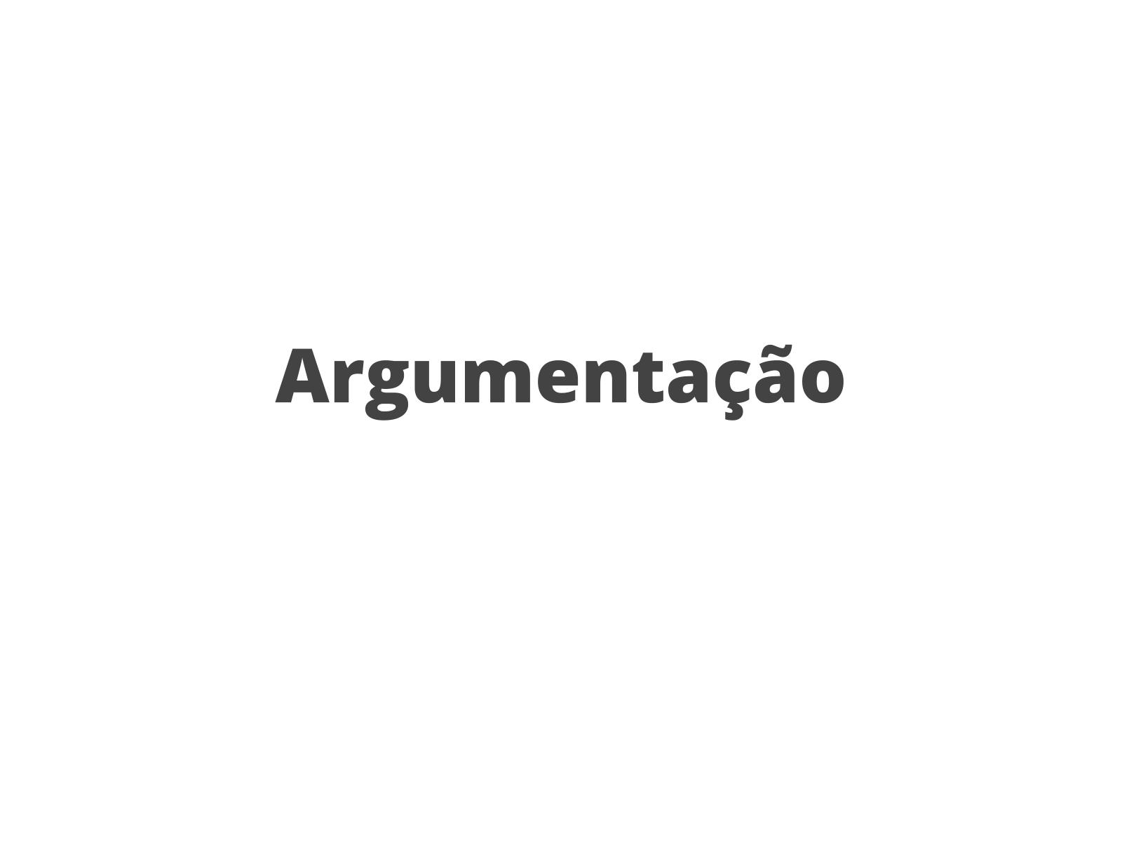 Argumentação em textos de opinião