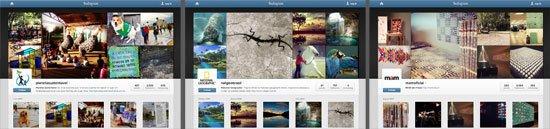 Mosaico com captura de tela de alguns perfis