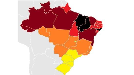 Variáveis visuais do mapa: cor