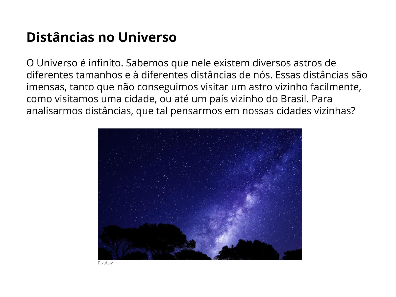 Distância entre a Terra e algumas Estrelas