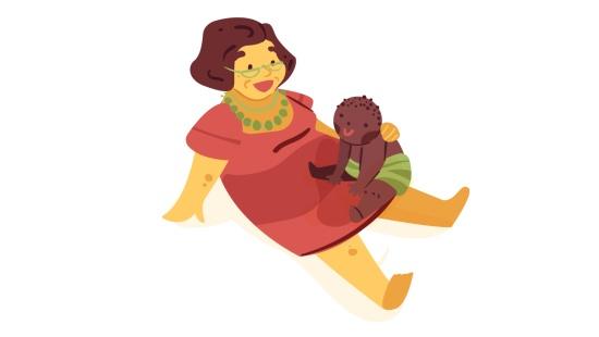Massagem Shantala para a soneca dos bebês
