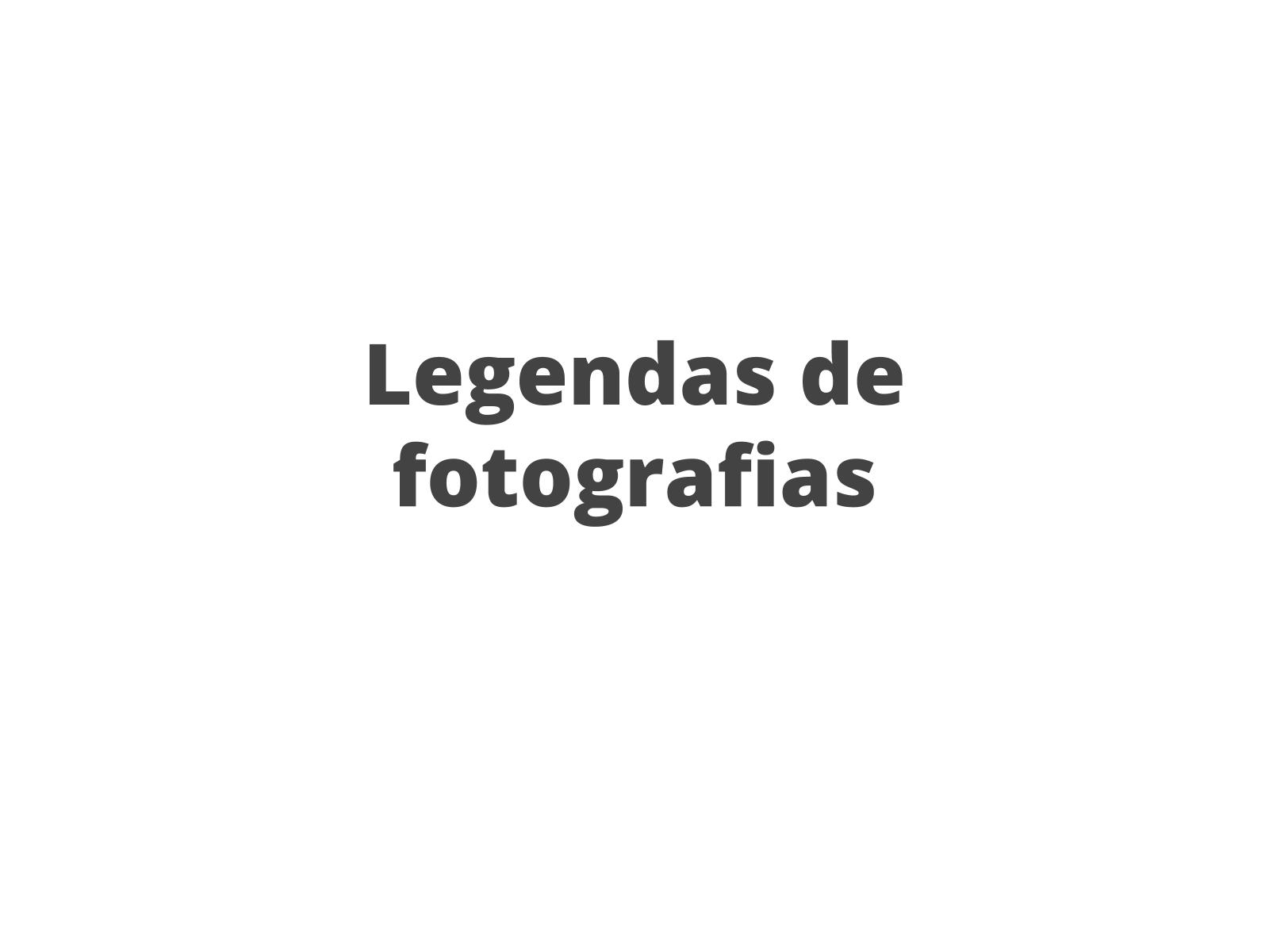 Legendas de fotografias