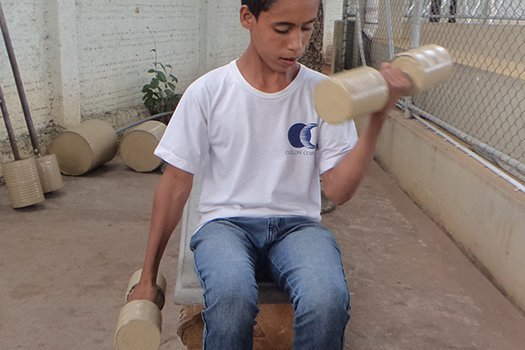 Objeto para fazer ginástica. Fotos Arquivo pessoal/Fernando de Freitas