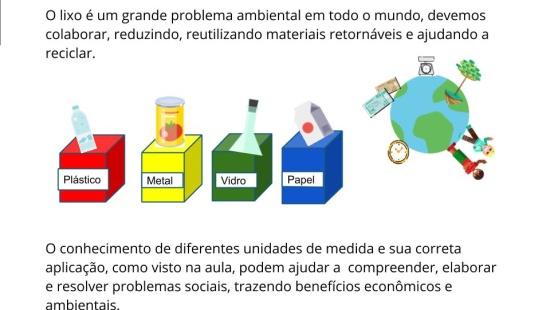 Lixo, resíduos e unidades de medidas