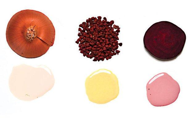Para obter rosa, amarelo e creme, use beterraba, urucum e cebola. Ricardo Toscani