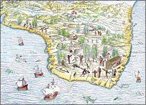 Mapa do Brasil, 1565, de Giacomo Gastaldi e Giovanni Battista Ramusio