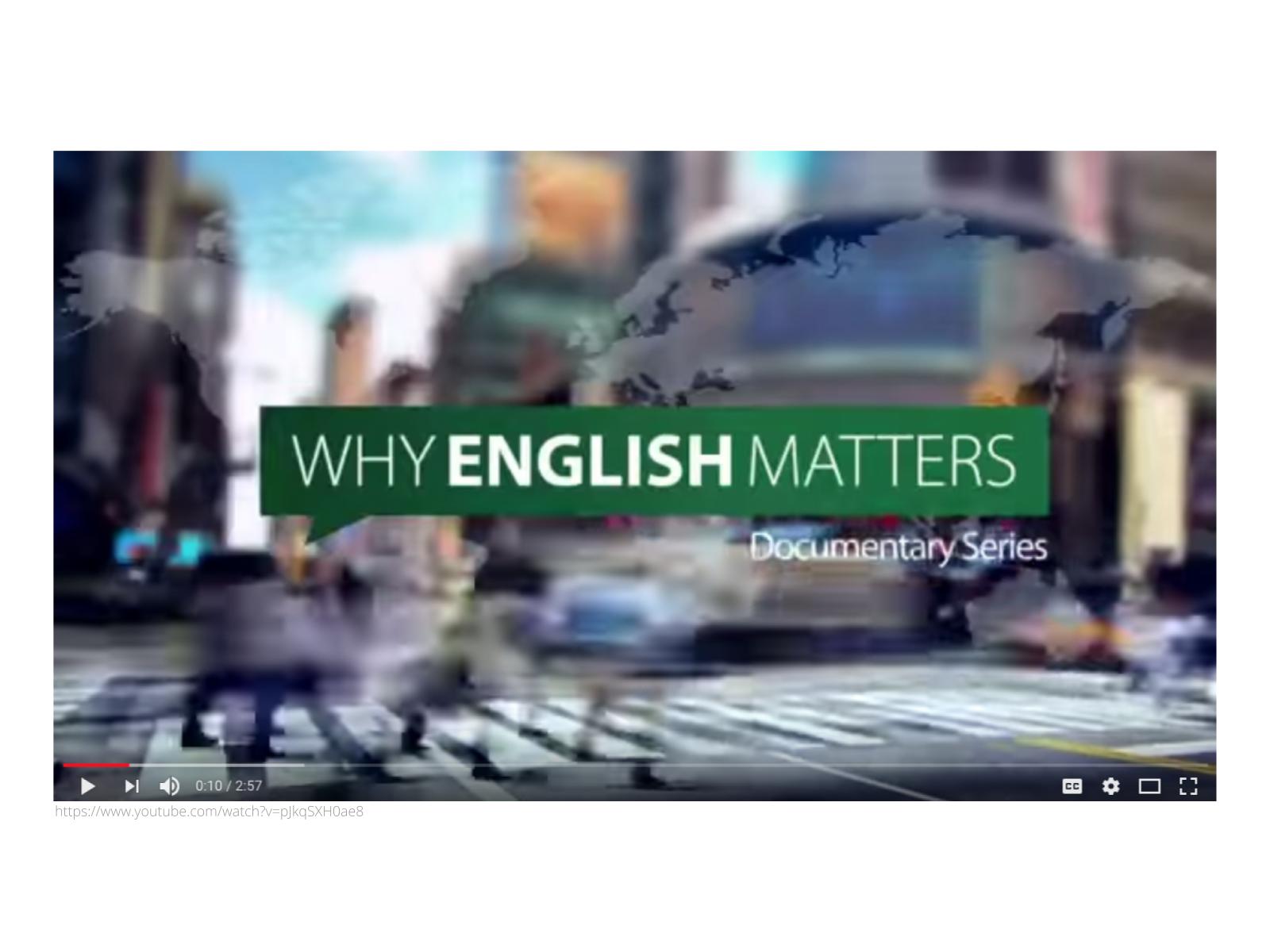 O inglês como língua da ciência