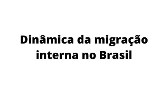 Migração interna no Brasil