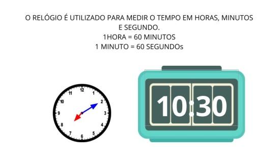 Horas, minutos e segundos