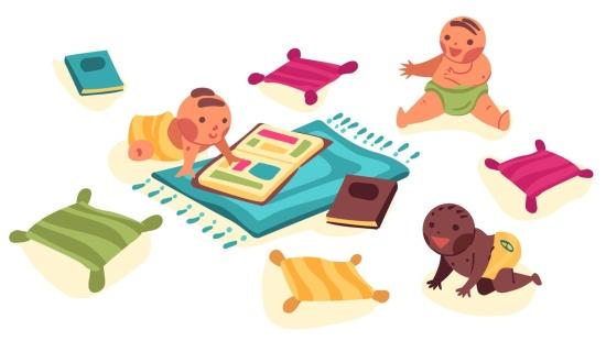 Exploração do álbum dos bebês