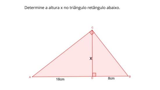 Aplicação das relações métricas para cálculos de medidas inacessíveis
