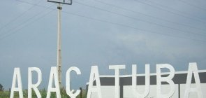 Letreiro da cidade de Araçatuba
