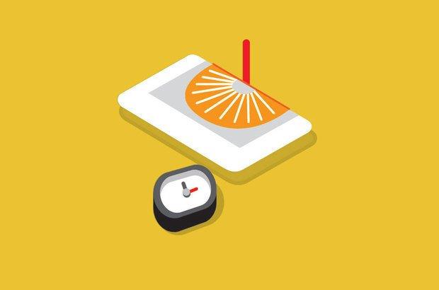 2 - Escolha uma hora cheia. Vire o relógio até que a sombra do ponteiro se projete sobre o mesmo horário. Raul Aguiar