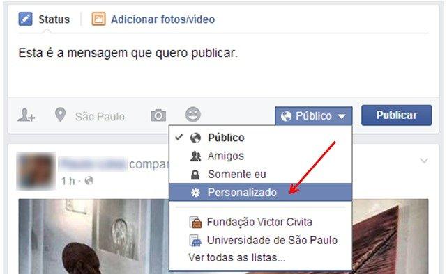 Facebook: conteúdo personalizado