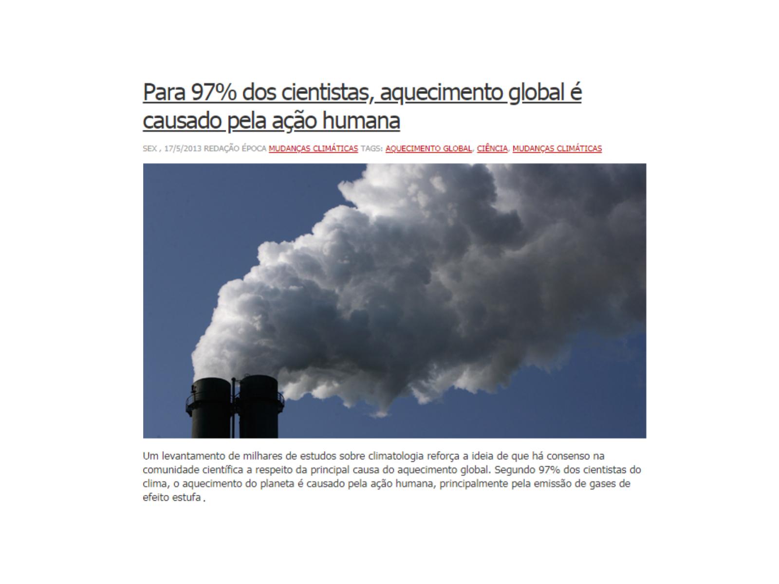 Atividades humanas e a intensificação do efeito estufa