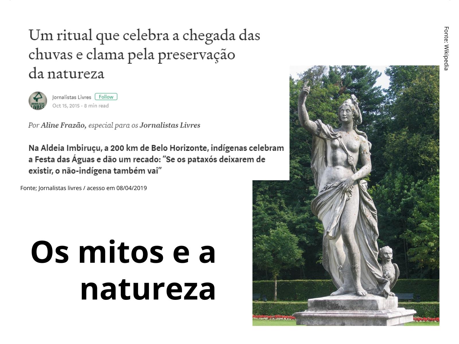 Religião, mitologia e natureza