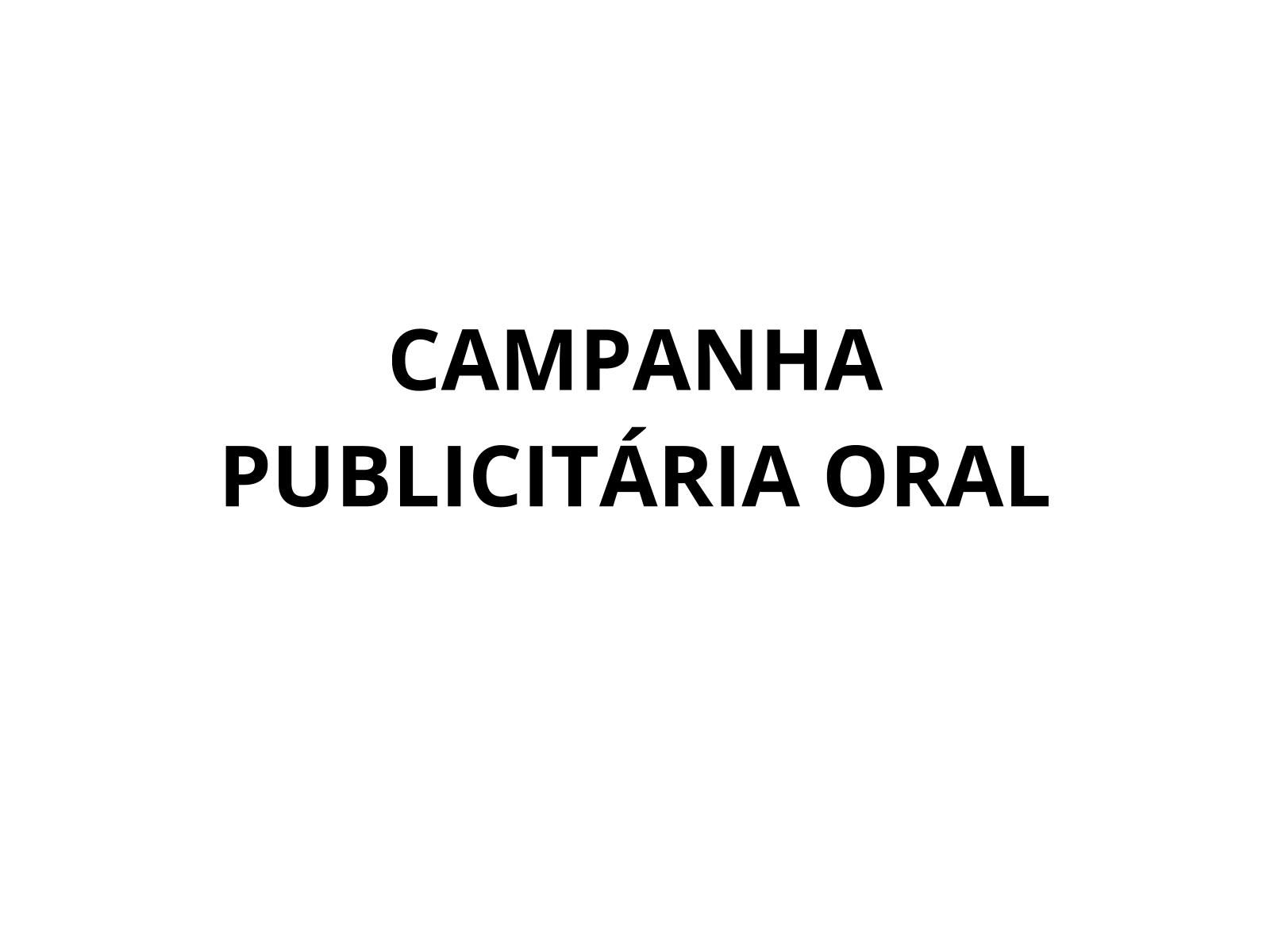 Conhecendo os elementos composicionais característicos de campanhas publicitárias apresentadas na modalidade oral