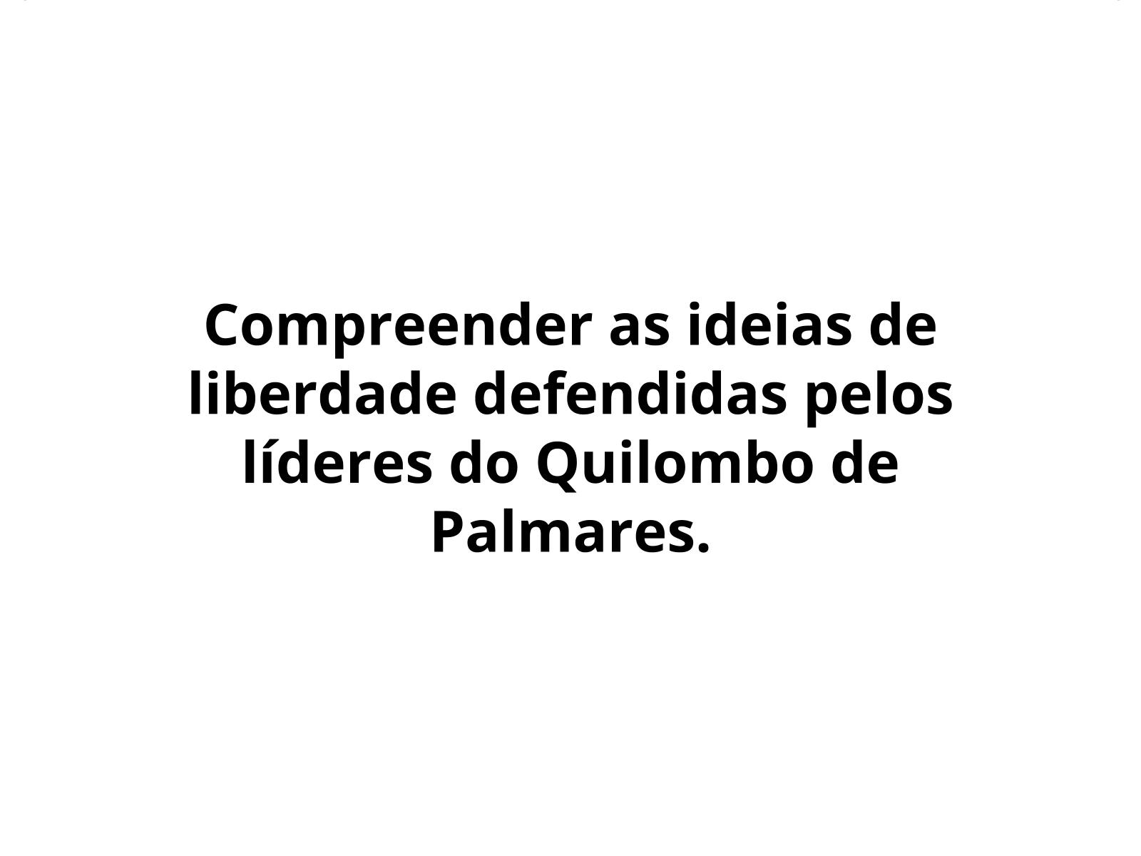 A organização do Quilombo dos Palmares e as noções de resistência de seus líderes Ganga Zumba e Zumbi