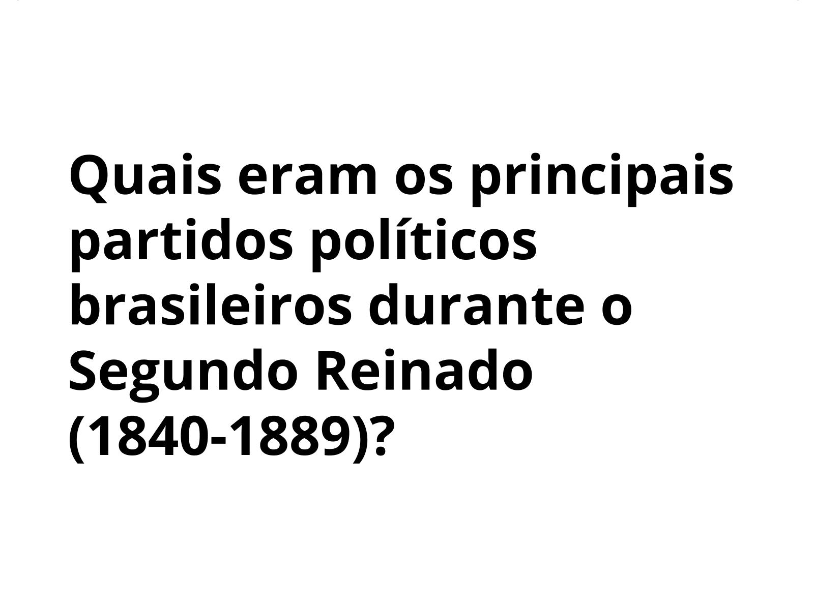 O partidos políticos  no Segundo Reinado