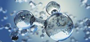 Bolhas de oxigênio se formam na água