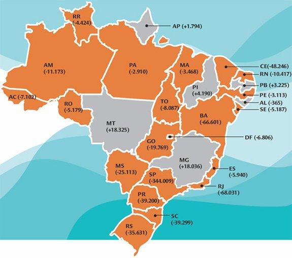Apesar da Apesar da situação ruim a maioria das redes estaduais do país apresentou baixa nas matrículas da EJA entre 2007 e 2011. Ilustração: Alice Vasconcellos