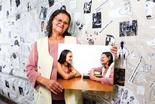 Maria lançou livros, criou um centro cultural e continua a orientar adolescentes. Foto: Fernando Martinho/Paralaxis