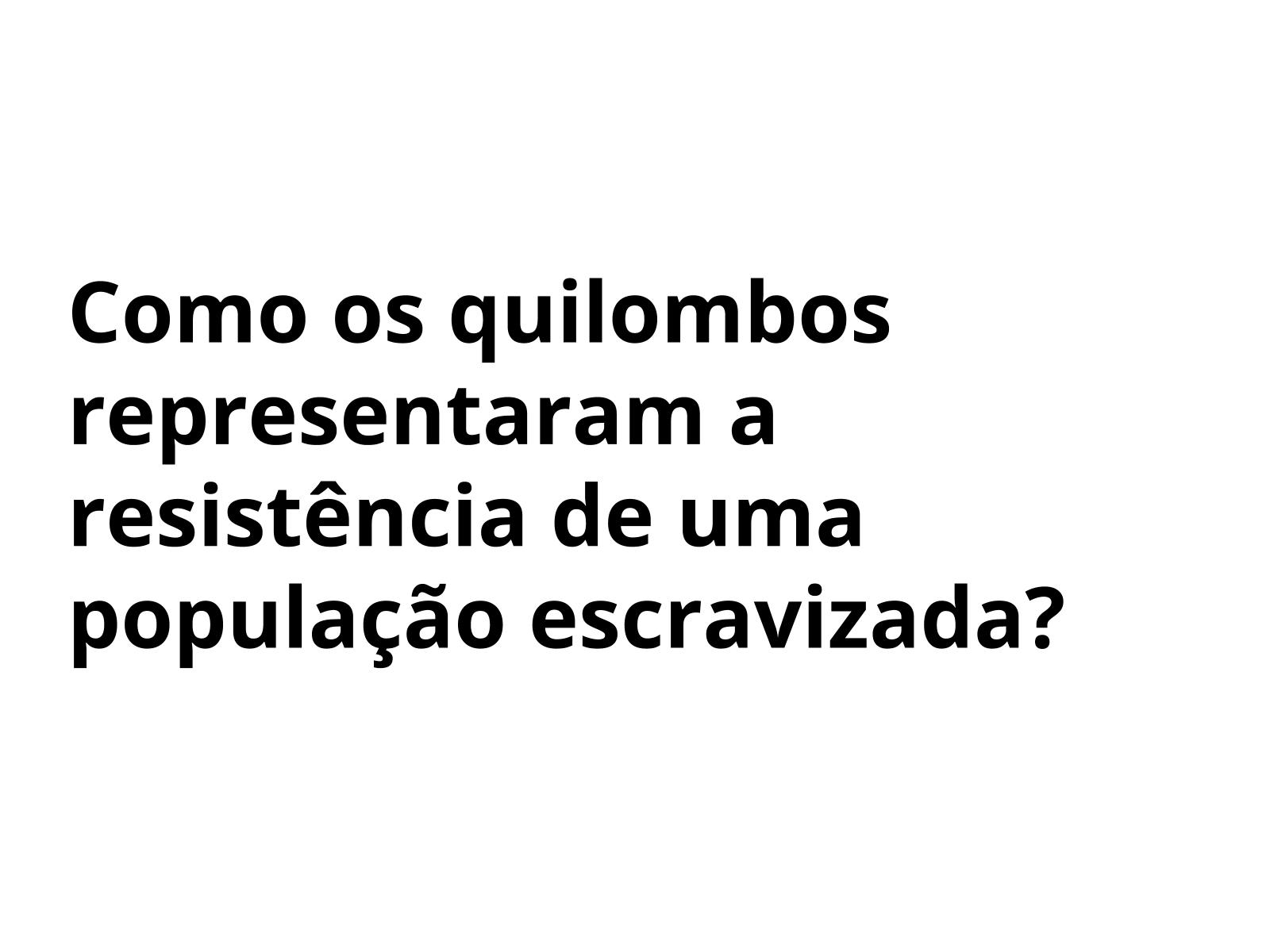 O quilombo como resistência  no Brasil colonial do século XVII