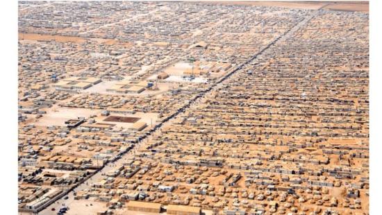 As paisagens de um campo de refugiados