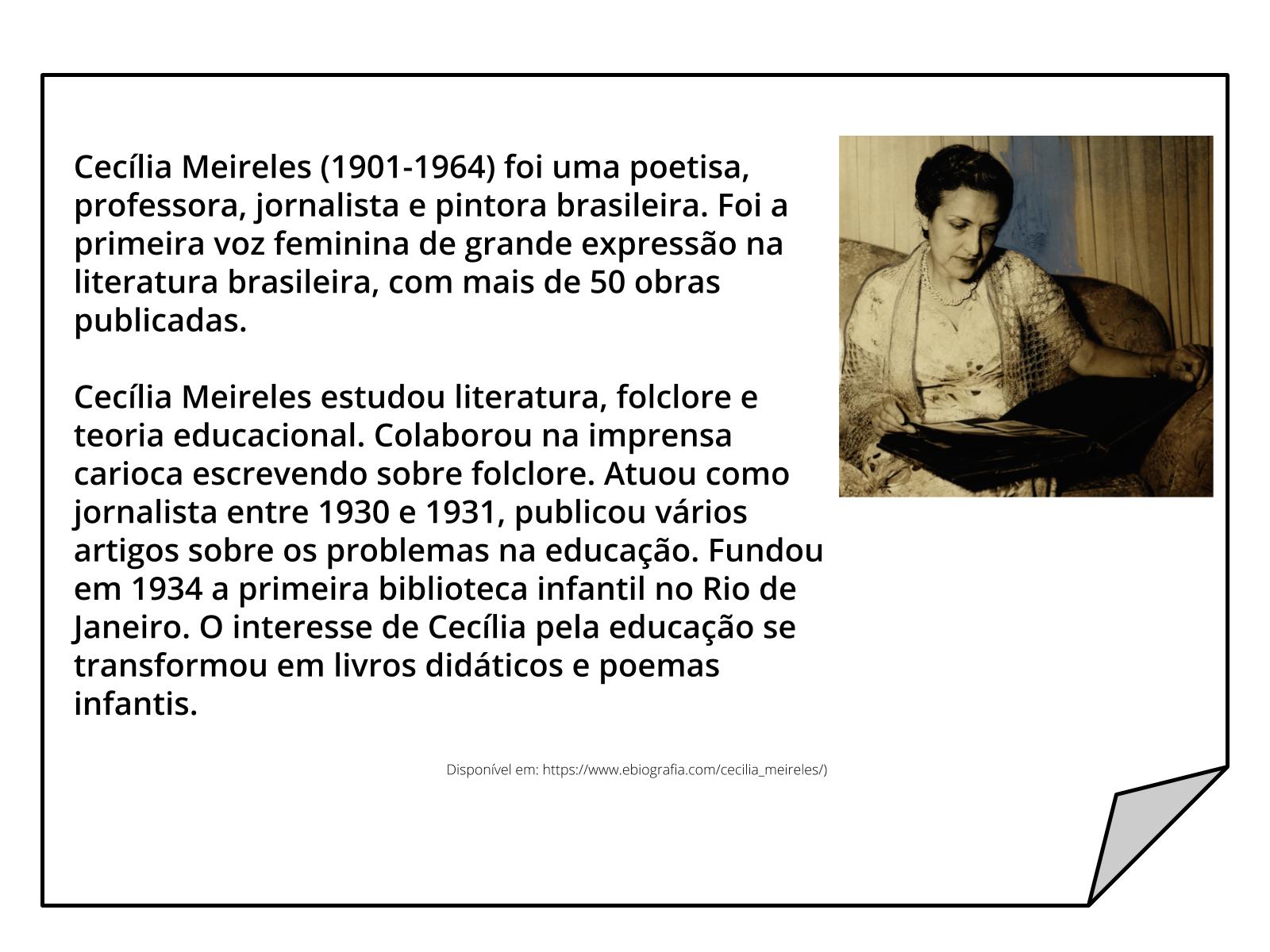 Uso do Ch e do X na escrita de Cecília Meireles