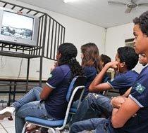 Missão cumprida: o filme é exibido. Foto: Benonias Cardoso