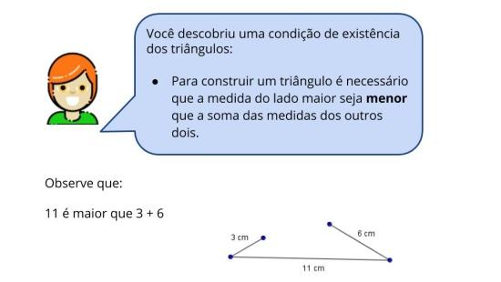 Condição de existência dos triângulos quanto às medida dos lados