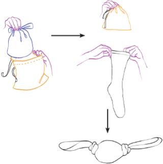 Objeto para fazer ginástica. Ilustração: Melissa Lagôa