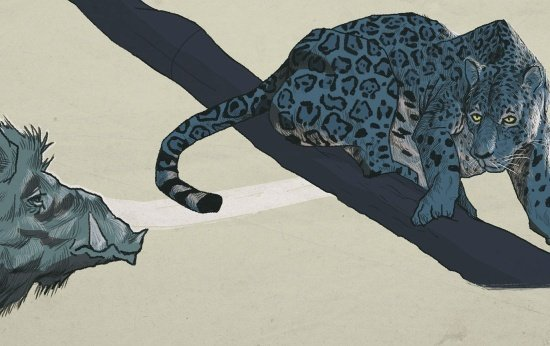 Ilustração de animais em extinção