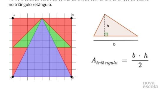 Resolução de problemas: área de triângulos