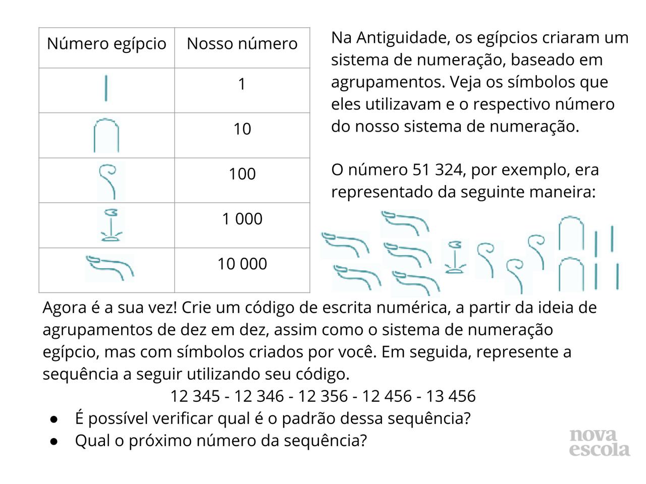 Plano De Aula 4º Ano Matemática Códigos Numéricos Com Base 10