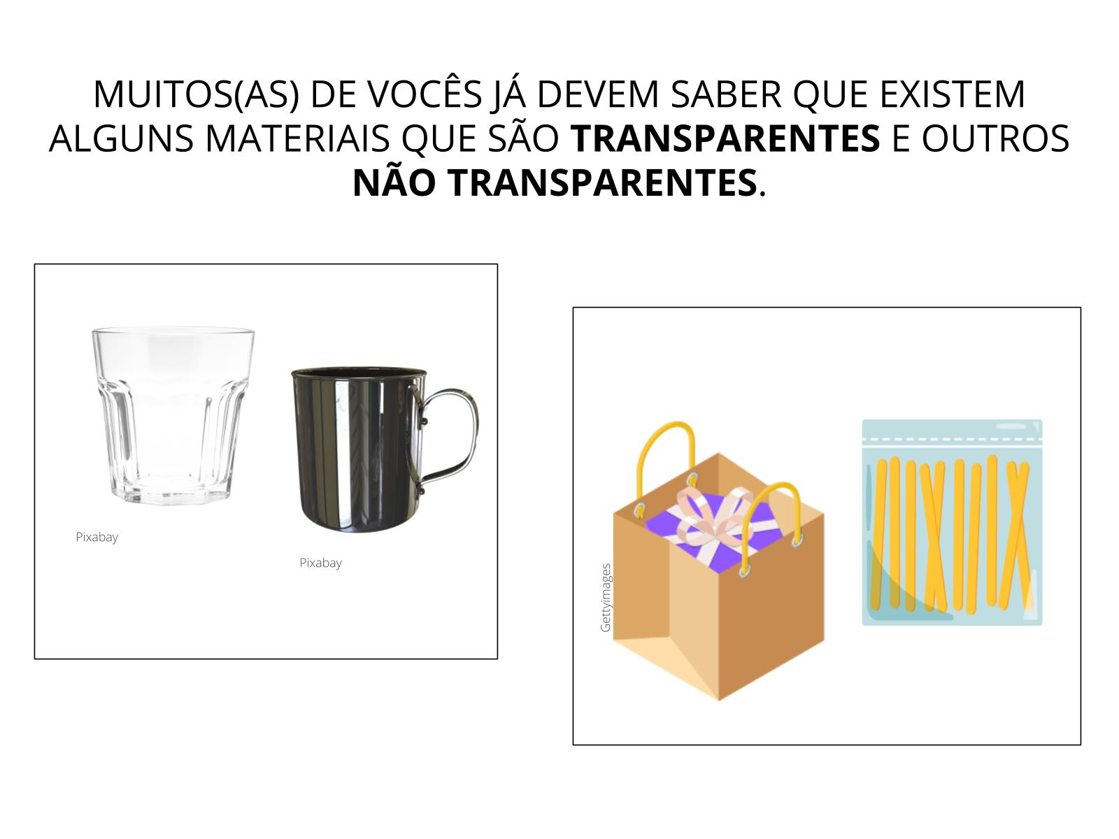 Transparência dos materiais