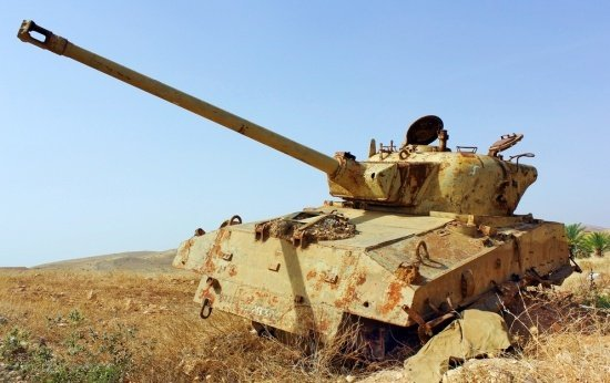 Tanque abandonado após a Guerra dos Seis Dias