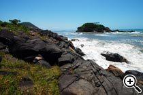 Praia Preta, Guarujá, SP. Foto Priscila Zambotto