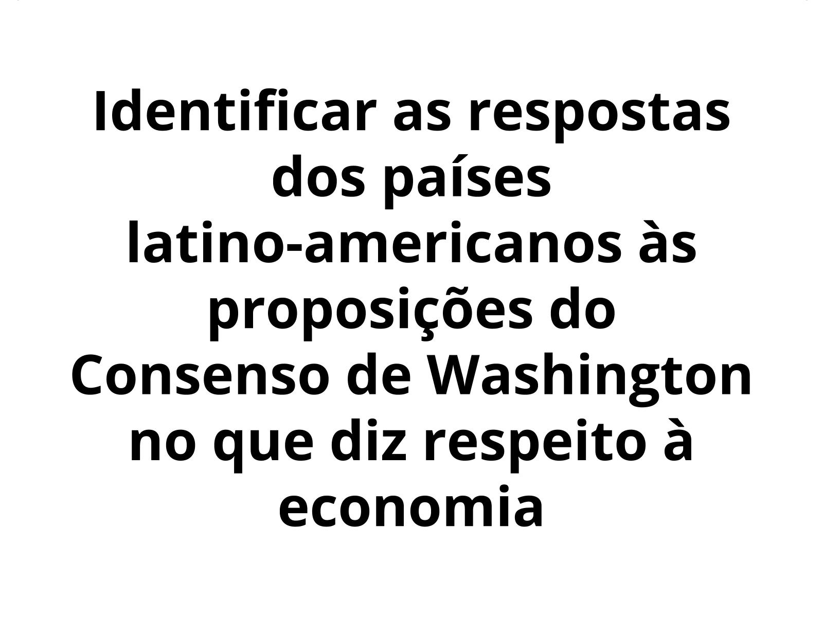 As políticas econômicas adotadas na América Latina no pós-guerra fria