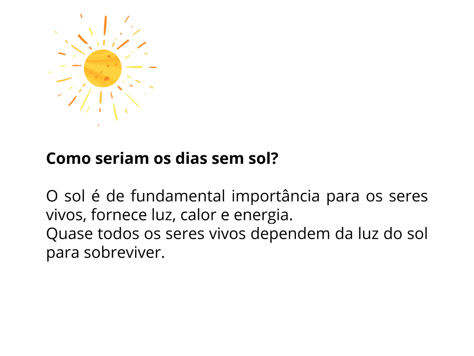 O sol e os seres vivos