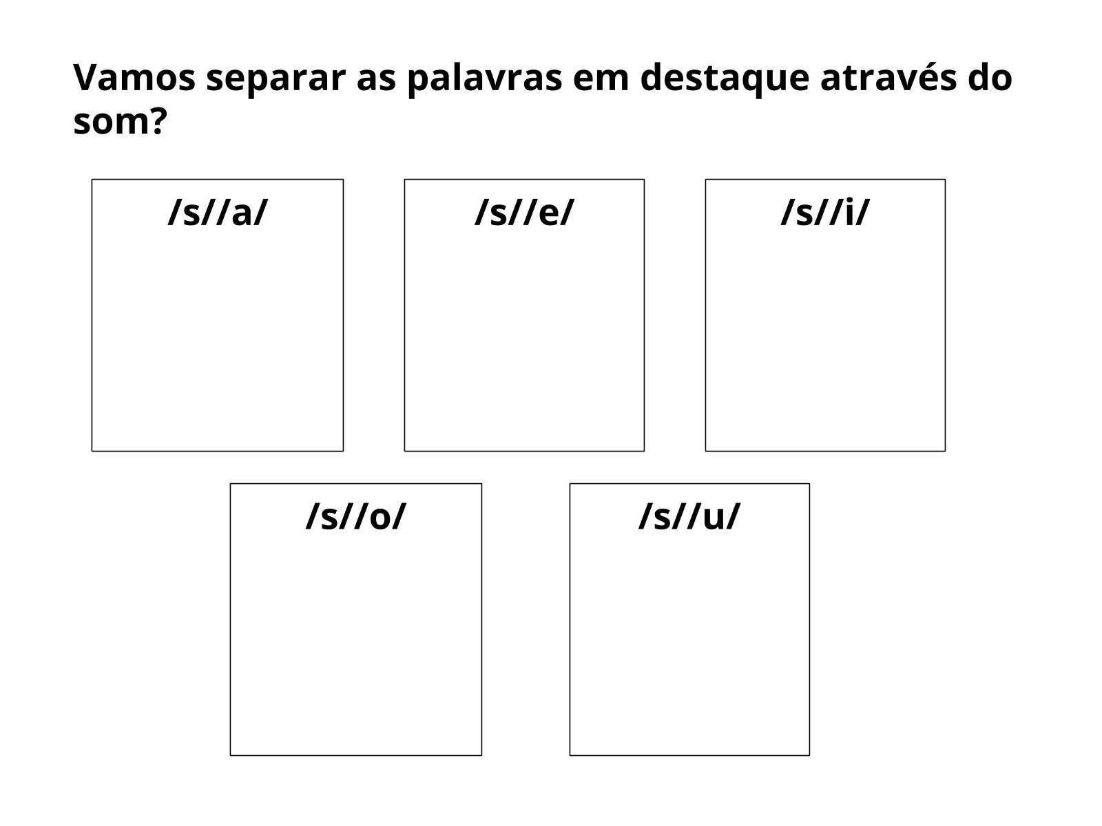 Uso do fonema /s/