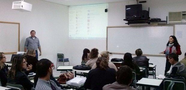 Os gestores aderiram aos recursos tecnológicos nos encontros formativos. Foto: arquivo pessoal