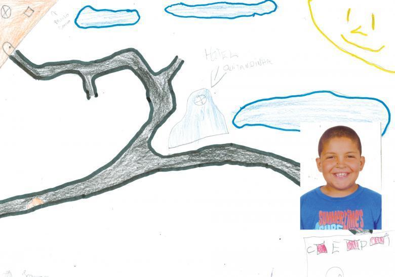 Ilustração sobre trajeto feita pelo aluno Jonas Vieira