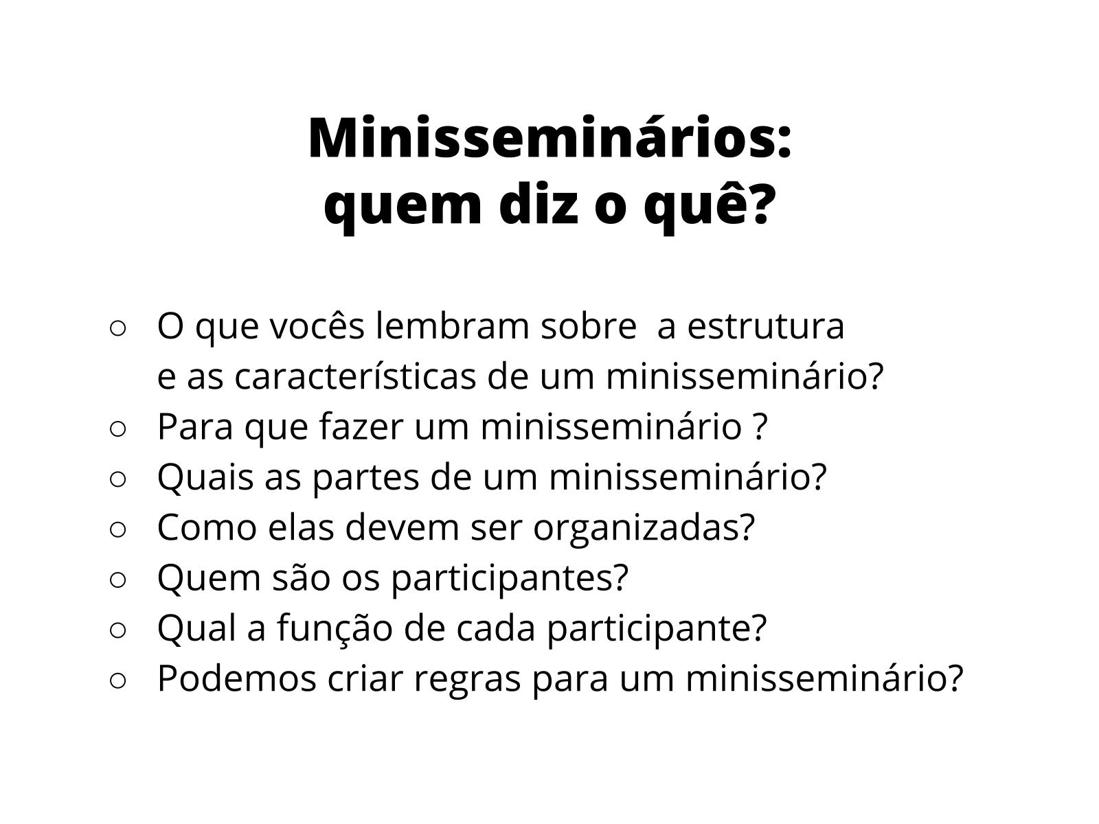 Minisseminários
