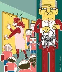 Assim não dá! Trancar armários. Ilustração: Thiago Cruz