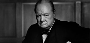 Retrato do primeiro-ministro britânico Winston Churchill