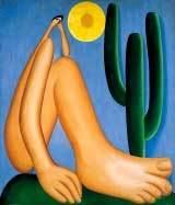Abaporu: a tela, pintada em 1928, inaugura o movimento antropofágico. Foto: Reprodução